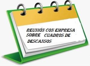Reunión Horarios y Cuadros de Descanso 14/02/18